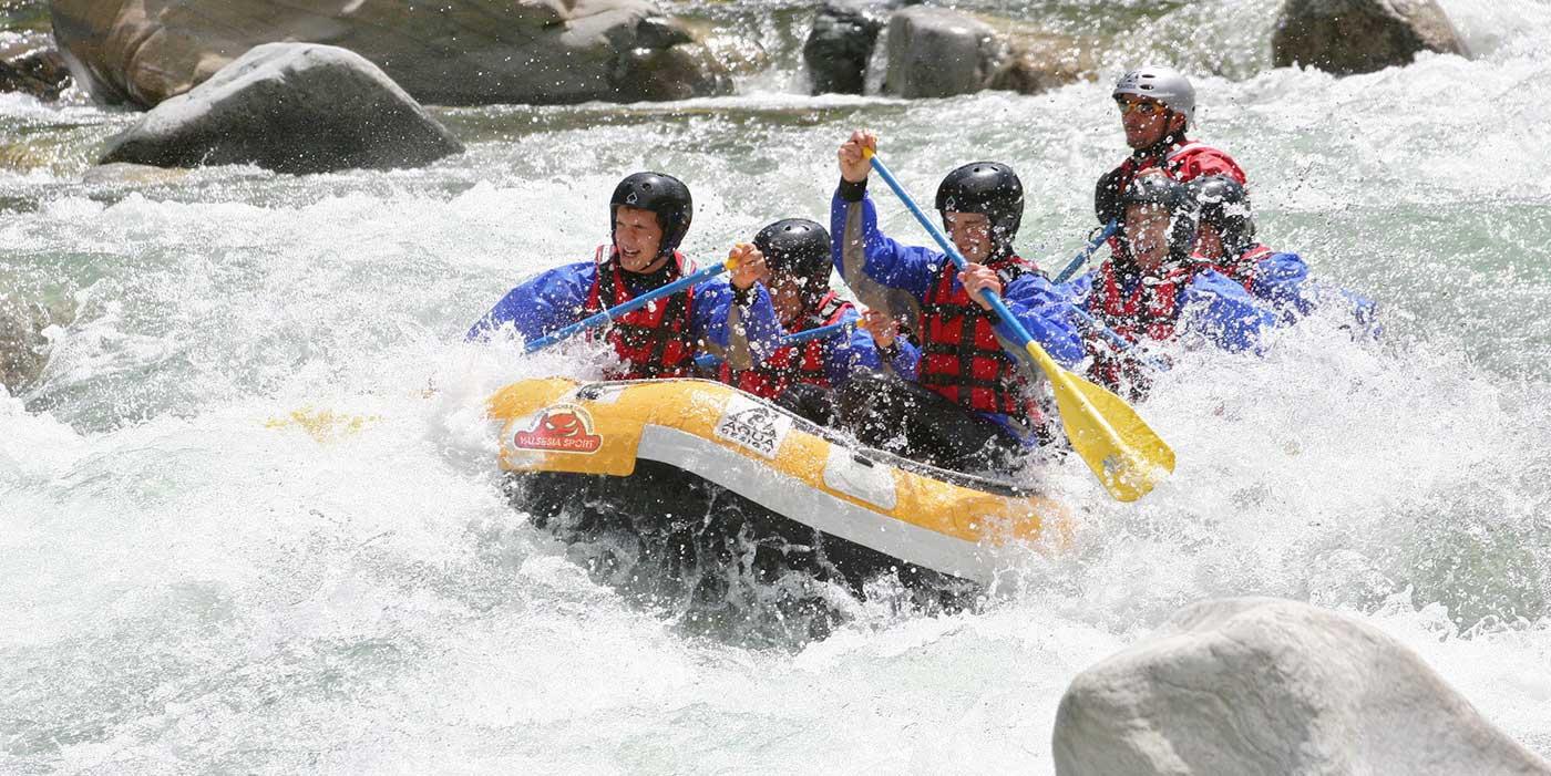 Rafting sul fiume Sesia in Valsesia