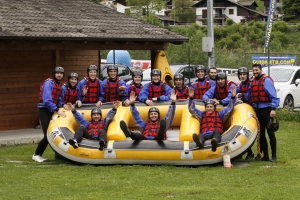 Rafting in Valsesia, addio al celibato.