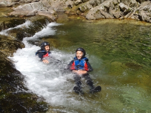 Canyoning Piemonte, canyoning per ragazzi.